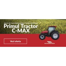 PRIMUL TRACTOR C-MAX + PLUGUL LELIO S3
