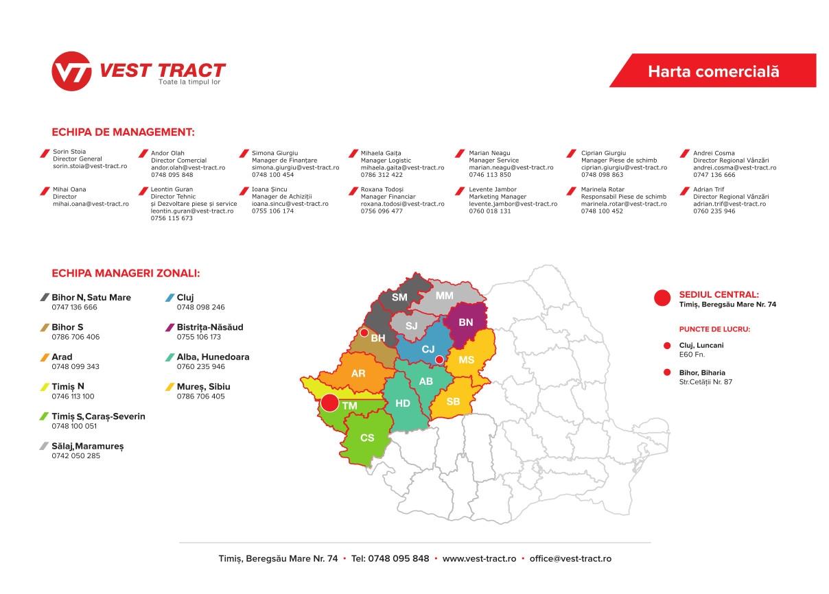 Harta comerciala Vest Tract